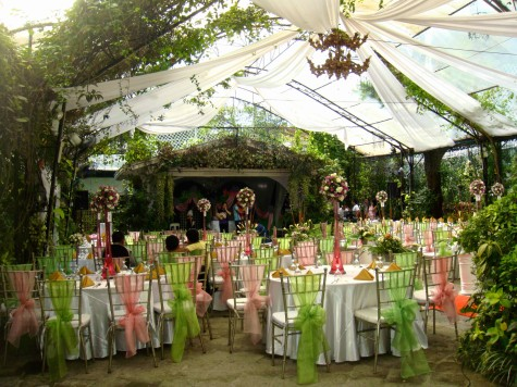 Actual Set Up Of Combined Ceremony And Reception At The Garden Area